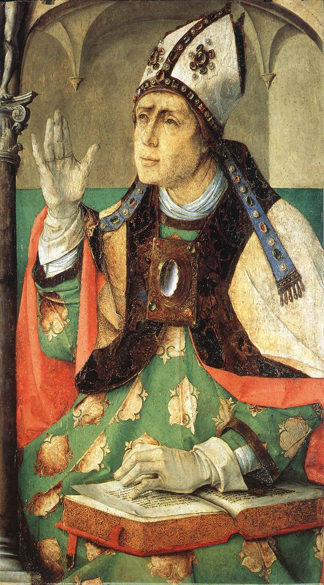 "Йос ван Гент. ""Святой Августин"" (ок. 1474 года, Париж, Лувр)"