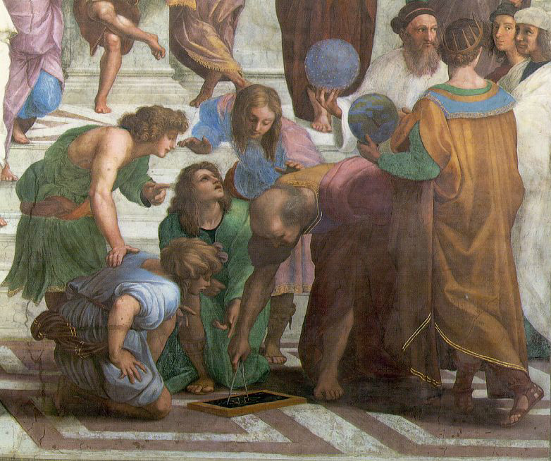 the school of athens by raphael There are total of 58 human figures, 2 main sculptures and 2 books in the  school of athens by raphael 21 of them are recognized.
